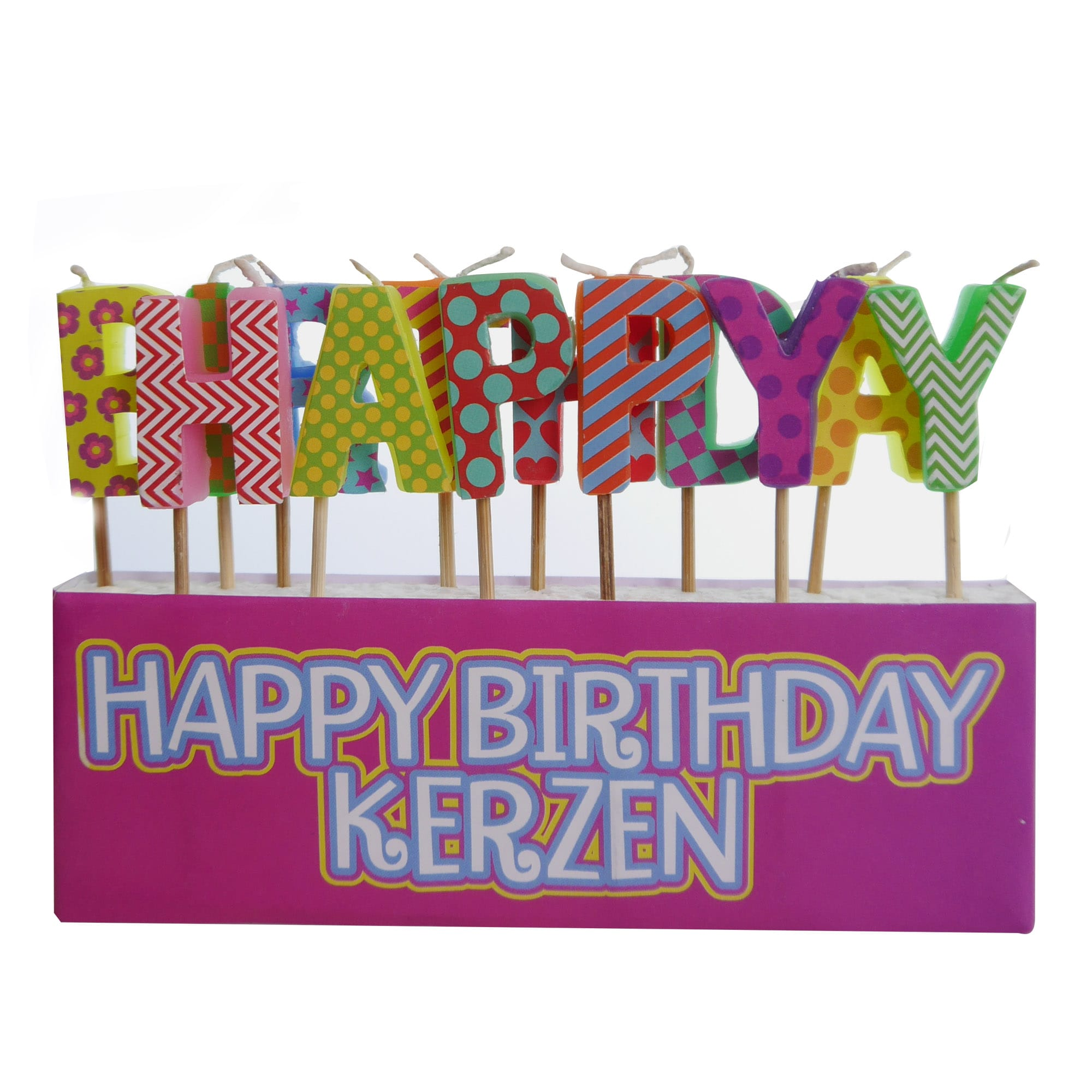 Kerzenbox Happy Birthday