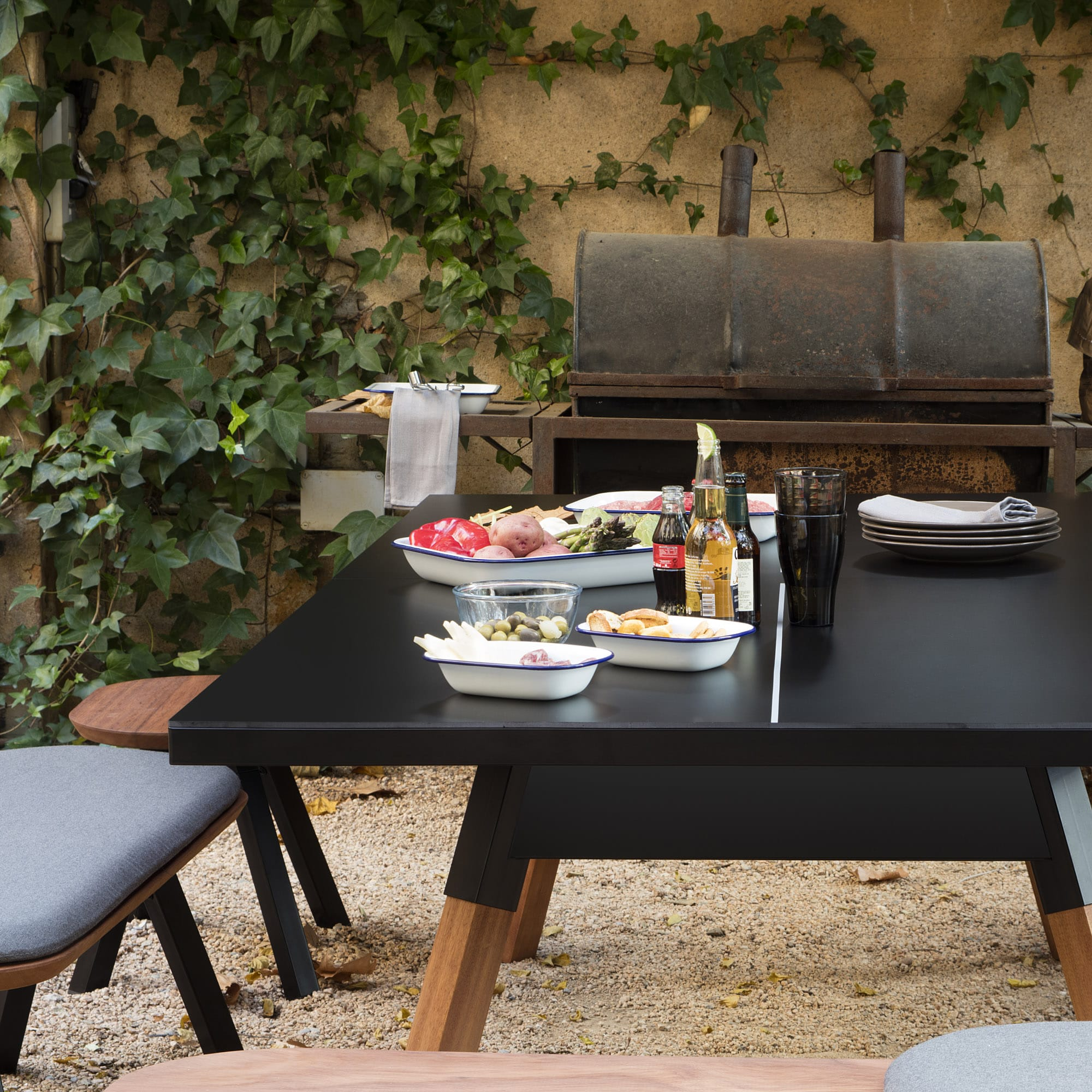 Pingpong tisch schwarz 220 cm for Tisch schwarz
