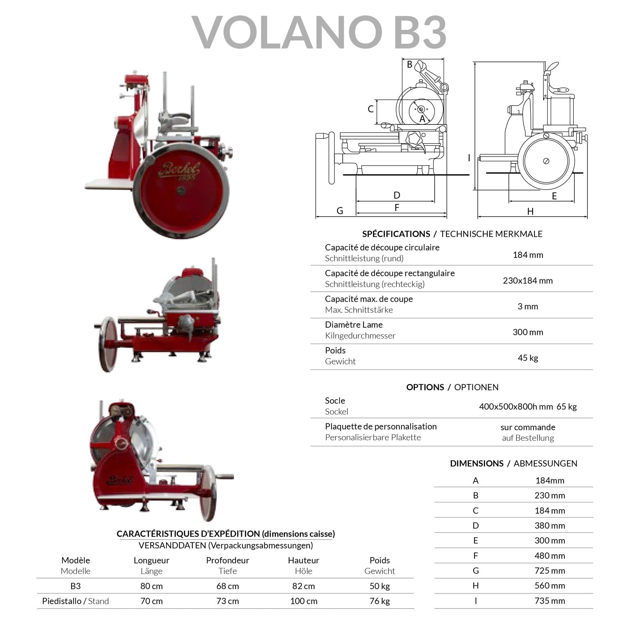 Schneidemaschine Berkel Volano B3 rot