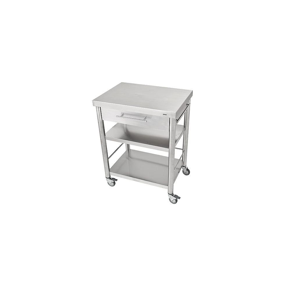 Küchenwagen Edelstahl 1 Schubladen 50 x 70