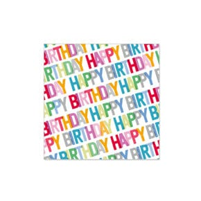 Papierservietten Birthday Multi