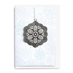 Card with folding pendant Lotus