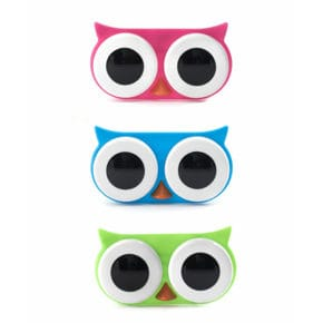 Contact lenses container owl