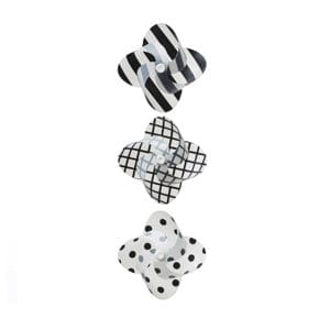 Windmill mini black/white set of 3