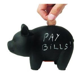 Piggy bank black