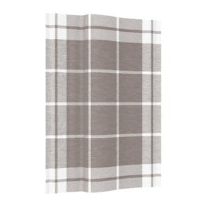 Kitchen towel, check large taupe