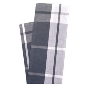 Kitchen towel, large check grey