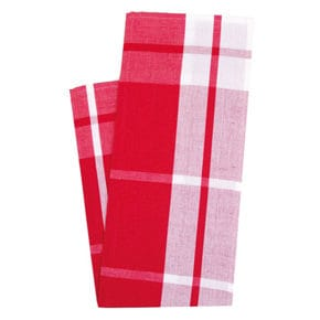 Kitchen towel, check big red