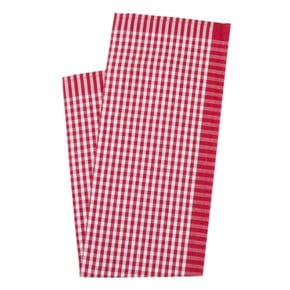 Kitchen towel, check small red