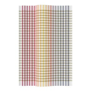 Kitchen towel gradient check red