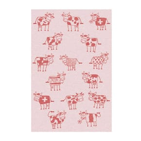 Kitchen towel, cow red