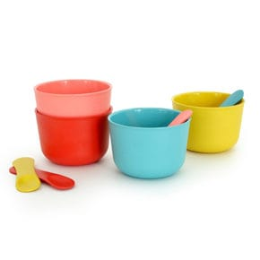 Ice cup set with spoon 4 pcs.