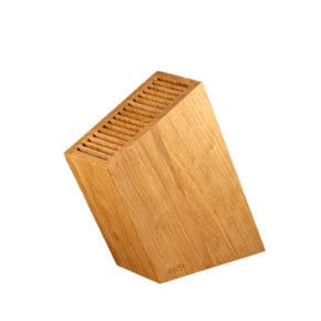 Knife block diagonal oak