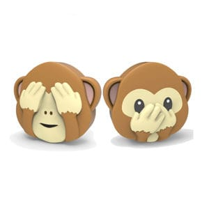 Powerbank Emoji Monkey double