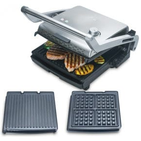 Waffle iron and contact grill