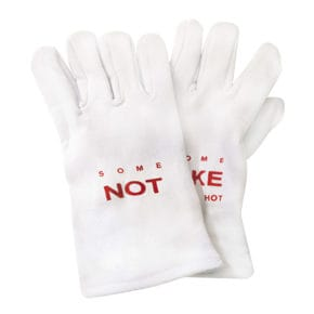 "Gant de cuisine ""Some like it hot some not"" blanc/rouge"
