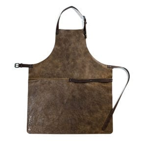 Leather apron brown 75 x 52 cm