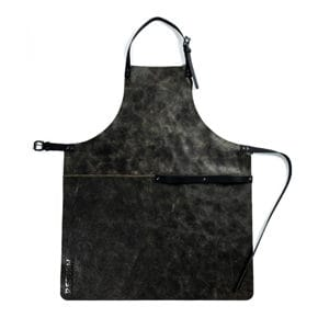 Leather apron black 75 x 52 cm